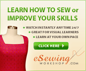 Learn sewing with online video courses.