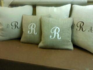 Burlap and Linen pillows