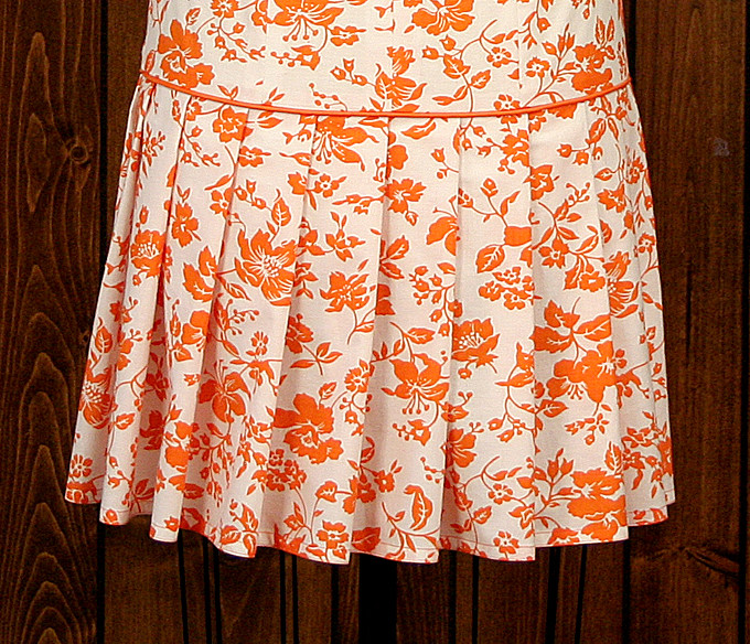 Pleated skirt of dress