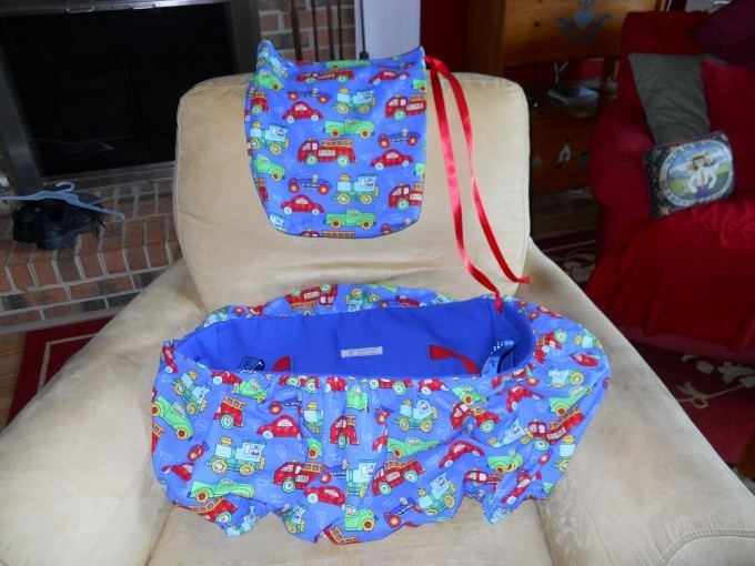 Shopping cart seat and tote