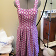 Fuchsia print summer dress