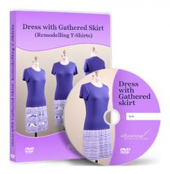 Dress with Gathered Skirt (Remodelling T-Shirts) Video Lesson on DVD