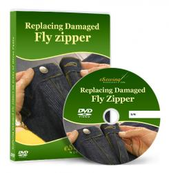 Replacing Damaged Fly Zipper on Jeans or Dress Pants Video Lesson on DVD