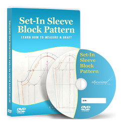Sleeve Block Pattern Drafting (Set-In Semi Fitted) Video Lesson on DVD