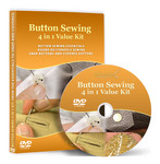 Button Sewing 4 in 1 Value Kit Video Lesson on DVD