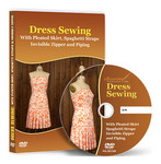 Dress Sewing with Pleated Skirt, Spaghetti Straps, Piping and Invisible Zipper Video Lessons on DVD