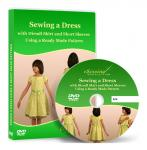 Sewing a Dress with Dirndl Skirt and Short Sleeves Using a Ready Made Pattern Vi
