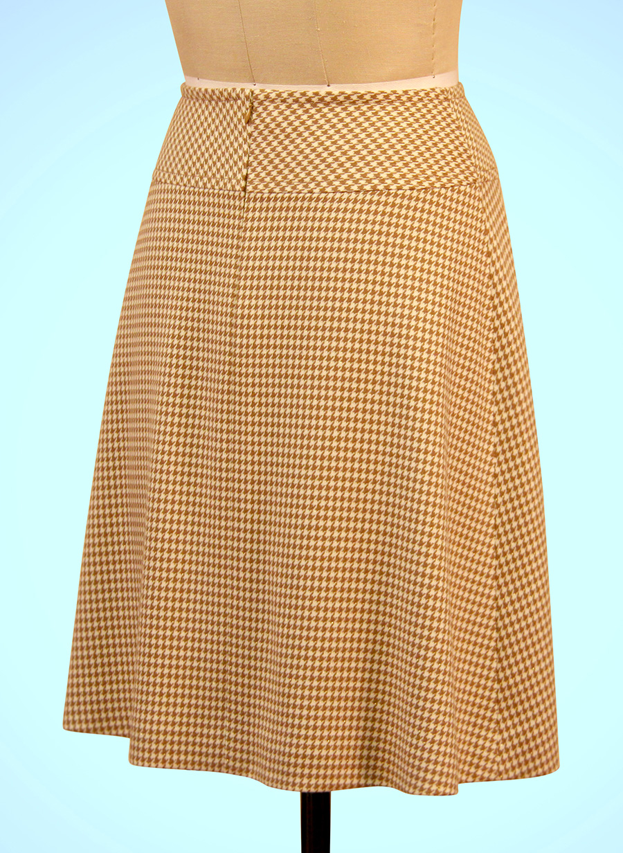 A Line Skirt Sewing Yoke Center Front Box Pleat