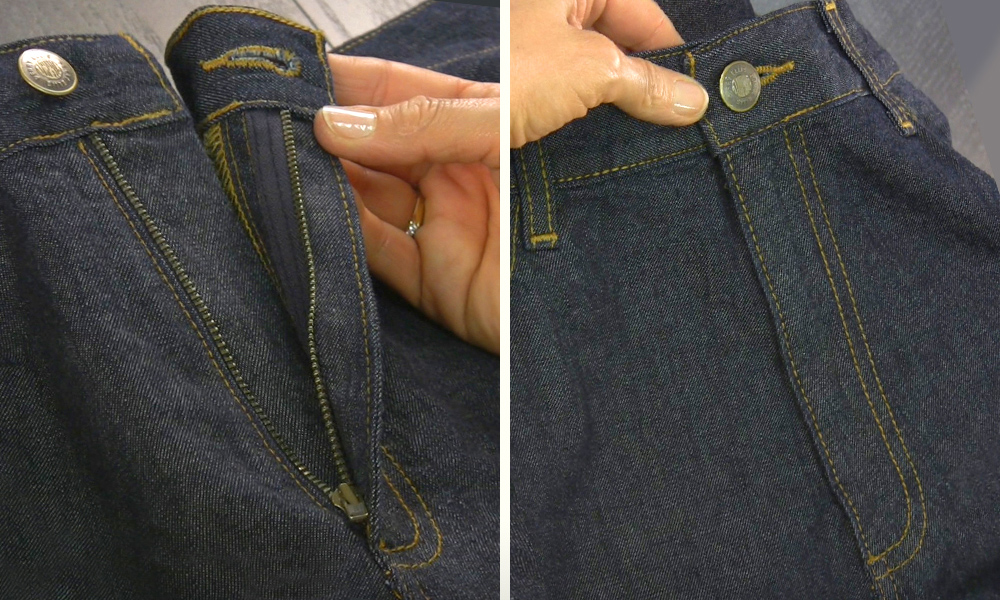 how to sew a fly zipper on pants