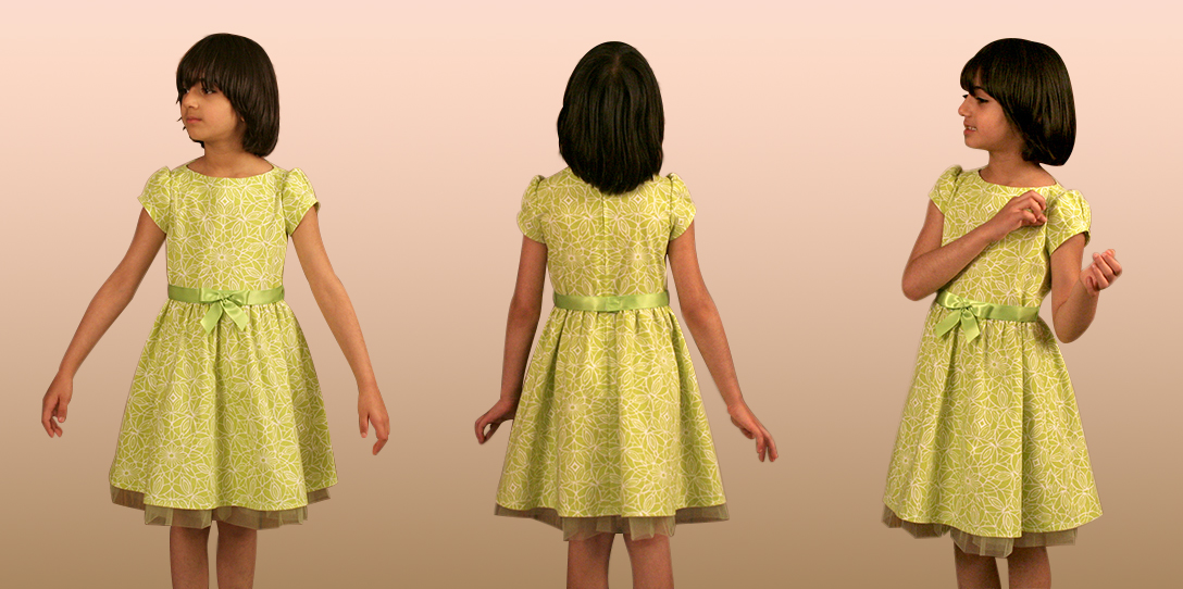 Sewing a Dress with Dirndl Skirt and Short Sleeves Using a Ready ...
