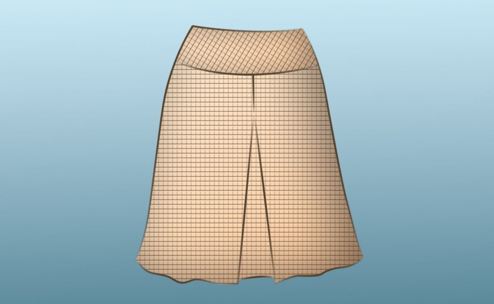 New Video A Line Skirt Sewing With Yoke And Center Front